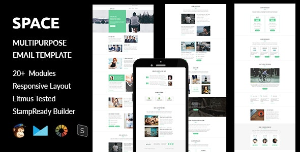 Space - Multipurpose Responsive Email Template + Stampready Builder - Email Templates Marketing