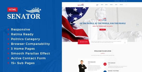 Senator - Election Campaign HTML Template - Political Nonprofit