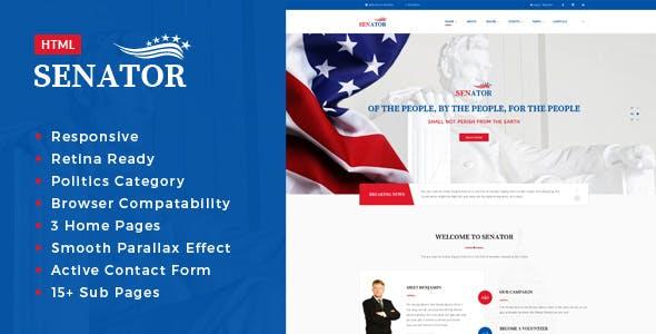 Senator - Election Campaign HTML Template