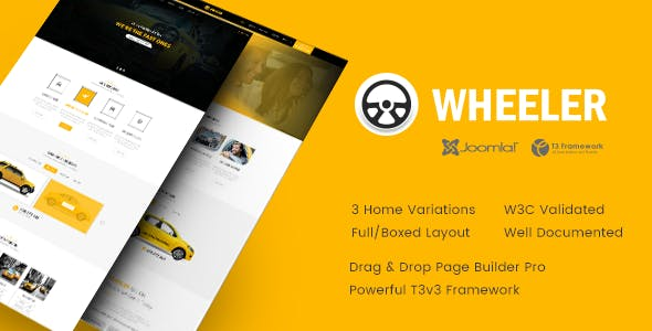 Taxi Booking System Website Templates from ThemeForest