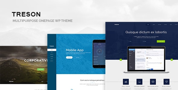 Treson - One Page WordPress Theme - Business Corporate
