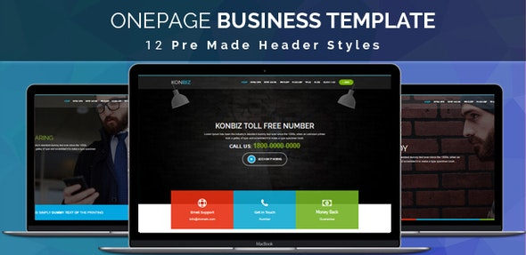 KONBIZ -  Onepage Business Template - Business Corporate