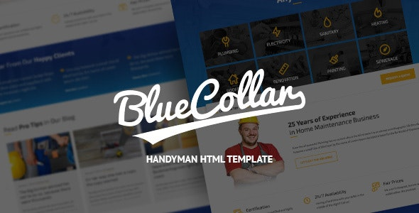 Blue Collar - Handyman HTML Template - Business Corporate