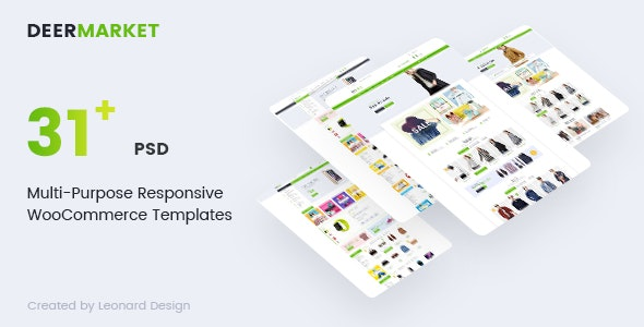 DeerMarket | Multi-Purpose Responsive Ecommerce PSD Template - Retail PSD Templates