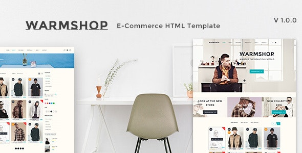 Warmshop Minimal e-Commerce Html Template - Fashion Retail
