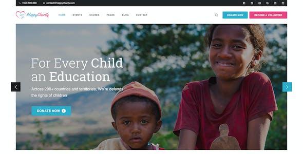 HappyCharity - Multipurpose Nonprofit Charity PSD Template