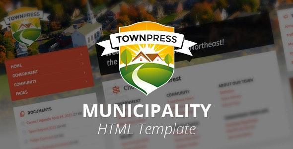 TownPress - Municipality HTML Template - Nonprofit Site Templates