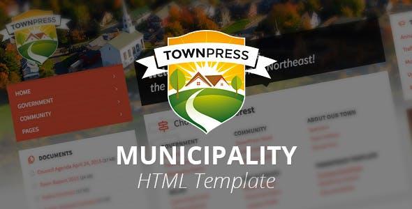 TownPress - Municipality HTML Template