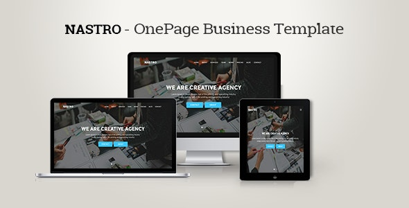 Nastro - Onepage Business Template - Business Corporate