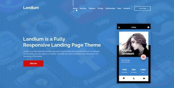 Landium - App & Landing Page Theme Pack