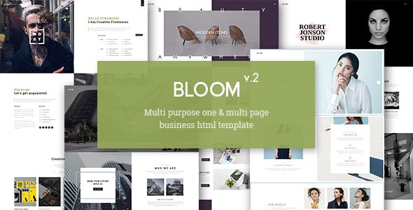 Bloom - One & Multi Page Business HTML Template