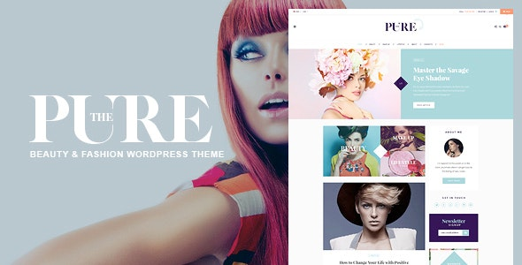 Pure - Fashion and Lifestyle WordPress Theme for Blogging - Personal Blog / Magazine