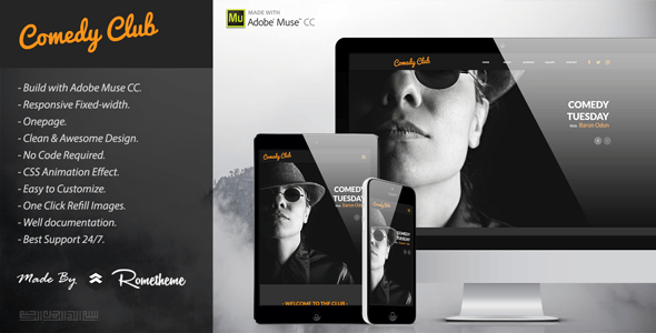 Comedy Club - Entertainment Muse Template - Miscellaneous Muse Templates