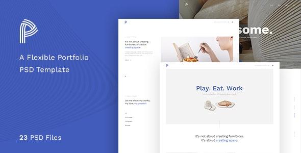Portfolia - A Flexible Portfolio PSD Template - Portfolio Creative
