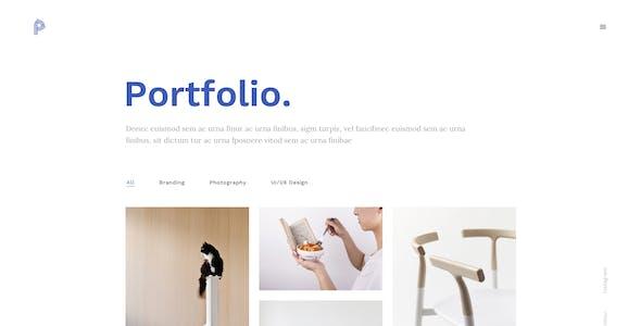 Portfolia - A Flexible Portfolio PSD Template