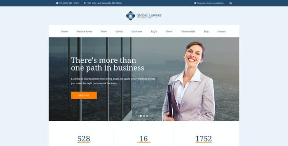 Global Lawyer - Attorney & Law Firm Agency PSD Template