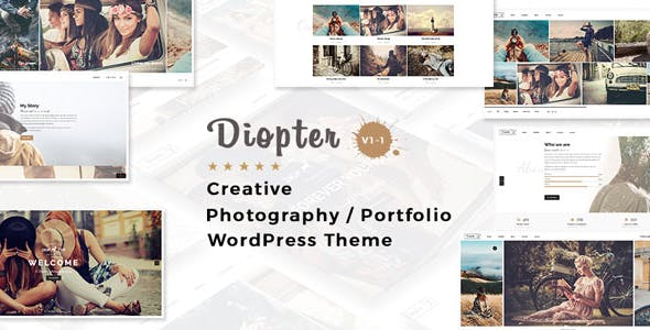 Diopter - Creative Responsive Photography / Portfolio WordPress Theme