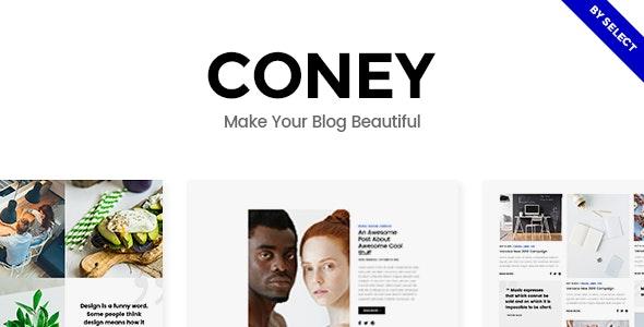 Coney - Blog Theme - Blog / Magazine WordPress