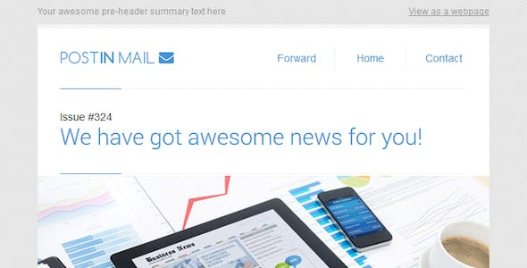 Postin Mail - Responsive Email Template + Access to Gifky Layout Builder
