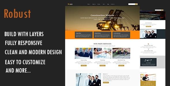 Robust-Construction WordPress Theme - Business Corporate