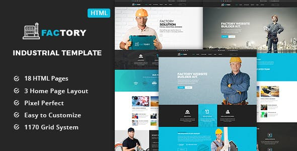 Factory - Industrial Business HTML5 Template