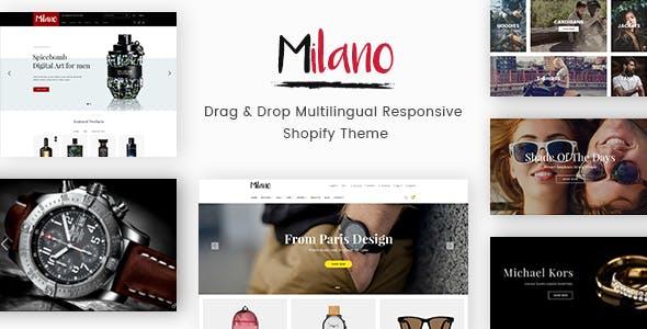 Milano - Drag & Drop Multilingual Responsive Shopify Theme