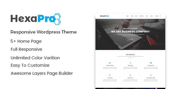 Hexapro – Corporate WordPress Theme - Business Corporate