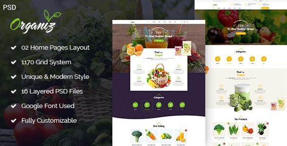 Organiz - A Powerful Organiz Store PSD Template - Retail Photoshop
