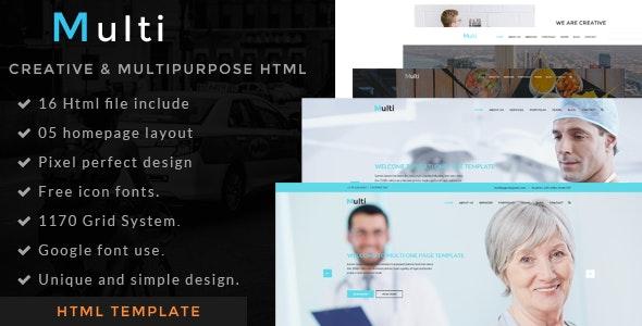 Multi - one page  html template - Portfolio Creative