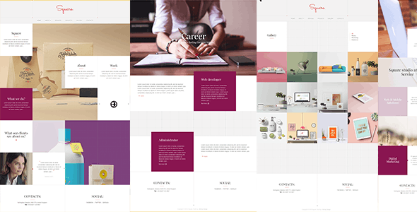 Square Metro Stylish Responsive Multipage Template By