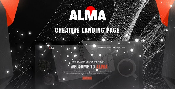 Alma - Simple & Creative Landing Page PSD Template - Creative PSD Templates