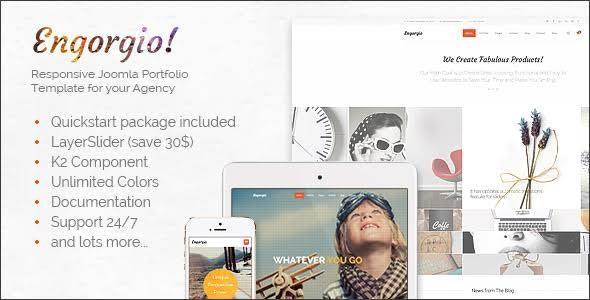 Engorgio - Responsive All Purpose Expressive Joomla Template - Portfolio Creative