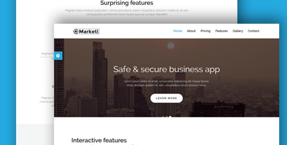 Marketi-Html App landing template - Technology Site Templates