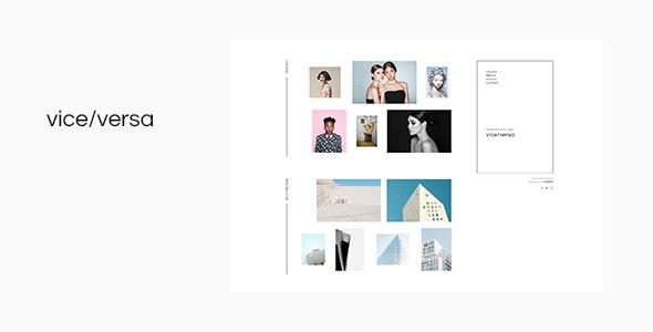 Viceversa - Minimal Photography and Portfolio WordPress Theme - Photography Creative