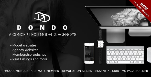 DONDO – Model & Agency Portfolio WP Theme - Portfolio Creative