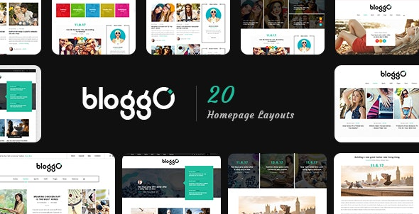 Bloggo – Personal Blog PSD Template - Personal Photoshop