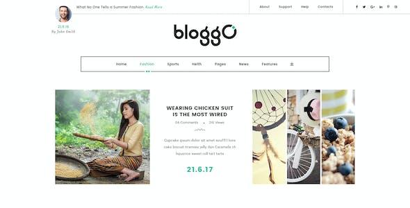 Bloggo – Personal Blog PSD Template