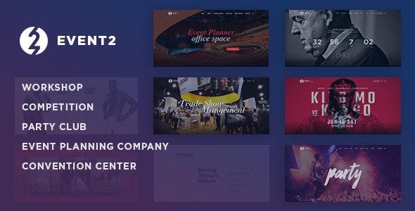 Event2: Workshop / Expo / Agency WordPress Theme - Events Entertainment