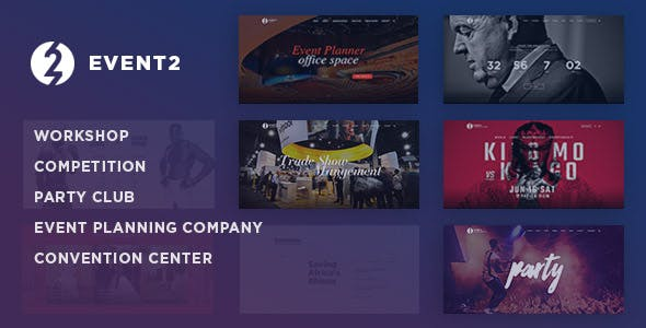 Event2: Workshop / Expo / Agency WordPress Theme