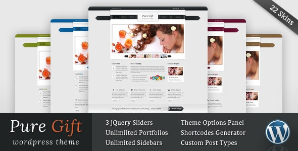 Pure Gift - Blog and Portfolio Wordpress Theme - Creative WordPress