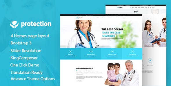 Protection - Medical | Health Responsive WordPress Theme
