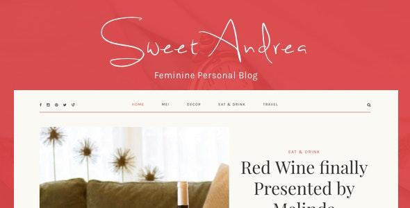 Sweet Andrea - Personal WordPress Blog theme - Personal Blog / Magazine