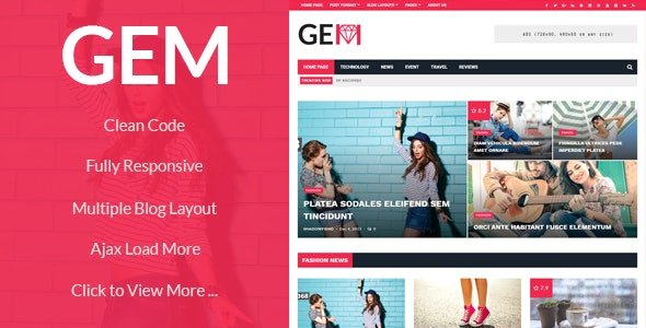 GEM - Viral, News, Magazine WordPress Theme - News / Editorial Blog / Magazine