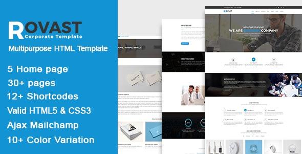 Rovast – Multipurpose HTML Template - Business Corporate