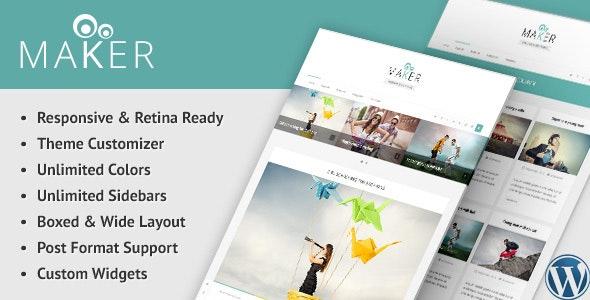 Maker - Responsive WordPress Blog Theme - Personal Blog / Magazine