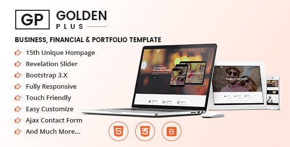 GP - OnePage Business, Financial & Portfolio Template - Corporate Site Templates