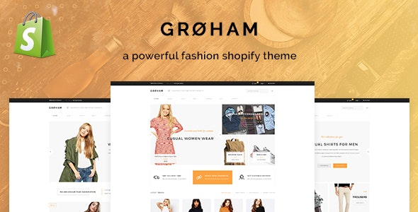 Groham - Fashion eCommerce Shopify Theme - Fashion Shopify