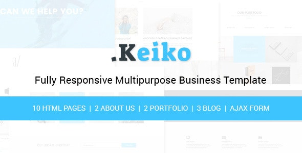 Keiko - Multipurpose Business HTML Template - Corporate Site Templates