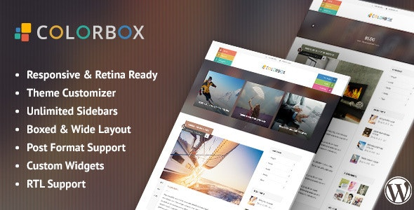 Colorbox - Responsive WordPress Blog Theme - Personal Blog / Magazine