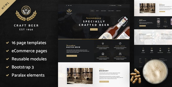 Craft Beer Nation HTML Template - Creative Site Templates